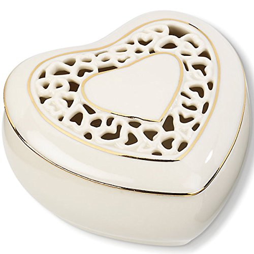 Lenox Pierced Heart Covered Box