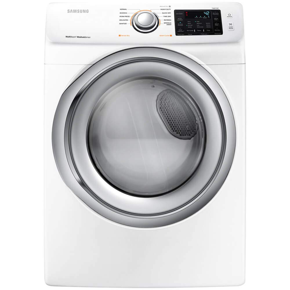 Samsung DV5300 White Electric Dryer with Steam