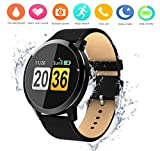 Cheap OUKITEL W1 Smart Watch,Touch Screen Bluetooth Wristwatch/Pedometer Analysis/Sleep Monitoring/Heart Rate Monitor Tracker/Blood Pressure Monitoring for Android and Long Standby iOS Smartphones (Black)