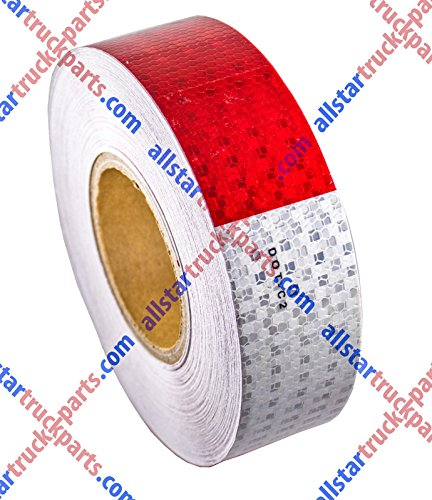 "Conspicuity Tape DOT-C2 Approved Reflective Truck Trailer Red White 2""x150' -1 Roll"