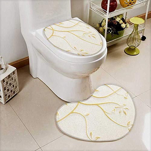 also easy Toilet Heart shaped foot pad low relief cement thai style handcraft of rose flower Washable Non-Slip by also easy