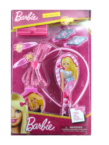 Pink Barbie Hair Accessory Kit
