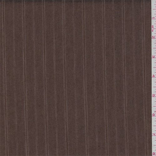 Cinnamon Stripe Denim Look Suiting, Fabric By the Yard (Stripe Denim Fabric)