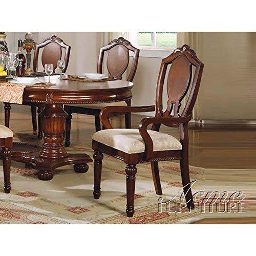 ACME 11834A Set of 2 Classique Arm Chair, Cherry Finish Review