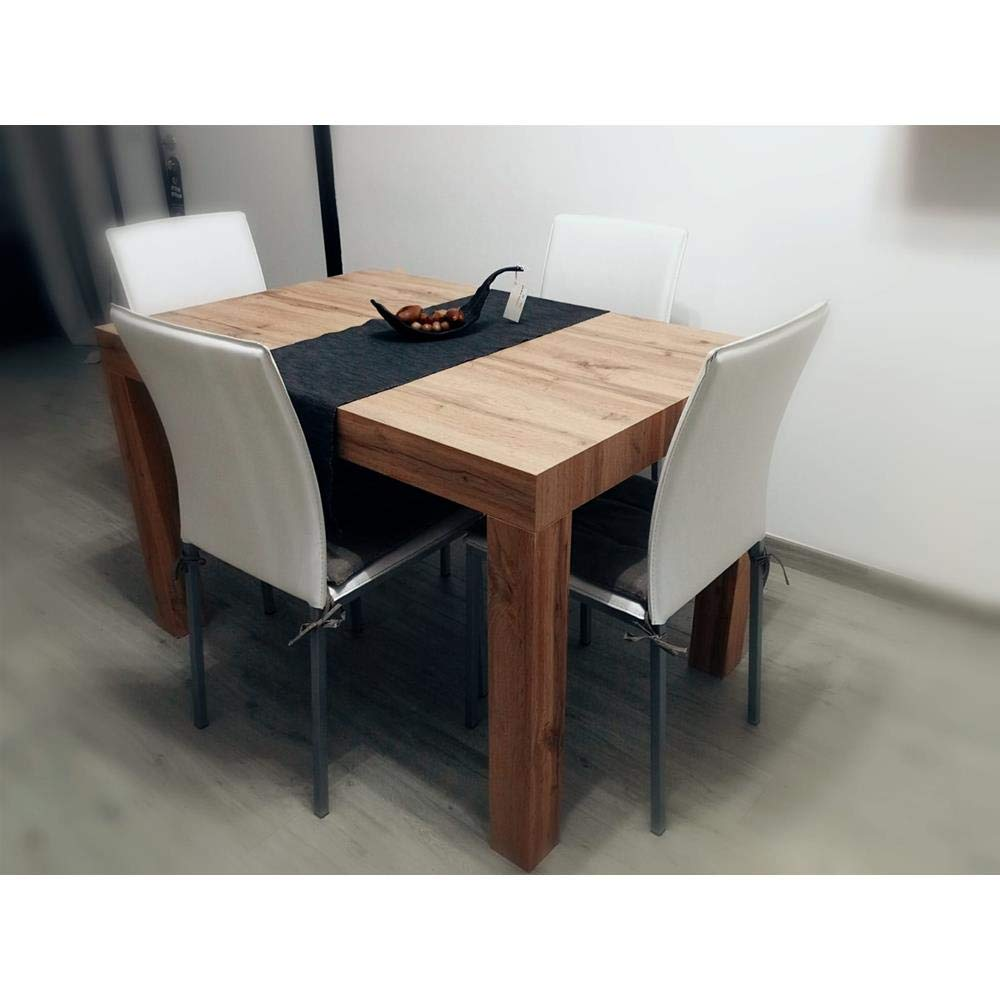 B/éton First Mobili Fiver Table Extensible Cuisine Made in Italy 120 x 80 x 76 cm