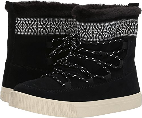 TOMS Women's Alpine Suede Boot, Size: 9.5 B(M) US, Color Black WP Suede/Tribal (Toms Boots Women For)