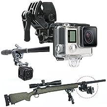 First2savvv GO-DYTZ-01G11 Gun / Fishing Rod / Bow Fixing Clip Mount Sportsman Mount for GoPro HERO4 Session, HERO+ LCD, HERO4 Silver Black, HERO, HERO2, HERO3, HERO3+, HERO4, SJCAM SJ4000, SJCAM SJ5000, Xiaomi Yi