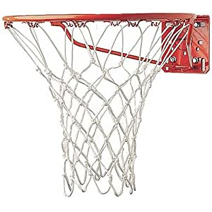 Champion Sports Deluxe Chemically Treated Non-Whip Basketball Net, White, 5mm (Model 409)