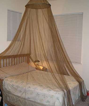 Brown Large Hoop Bed Canopy Mosquito Net Fit All Size Bed Or Outdoor Events