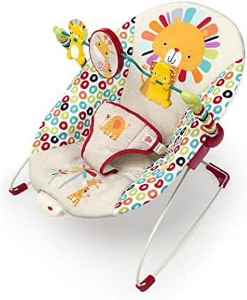 Bright Starts Playful Pinwheels Bouncer, Red