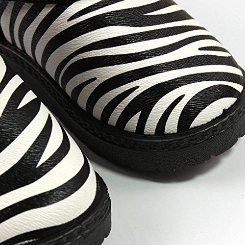 BZLine® Baby Zebra Muster Mädchen Schuhe Winter Martin Schnee Stiefel Schuhe Schwarz