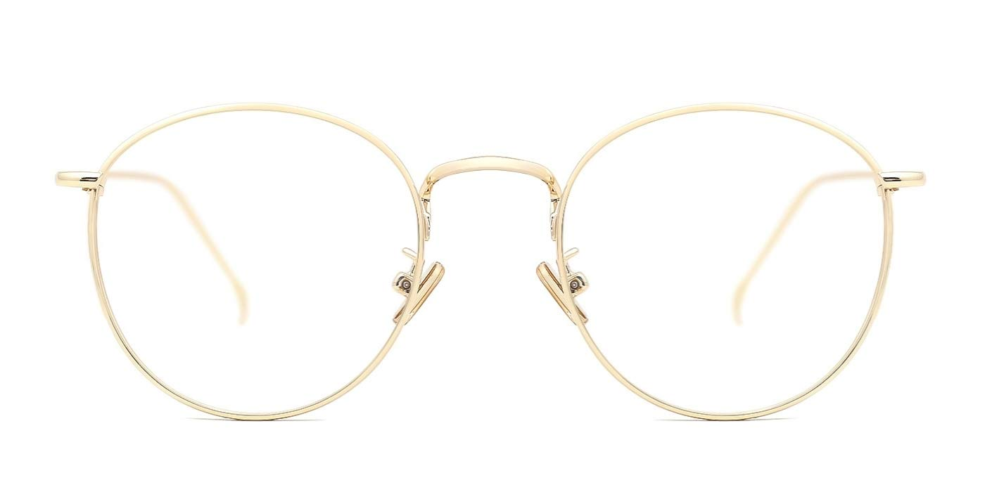 9fa839a1dec TIJN Women Metal Circle Eyeglasses Fashion Full Rim Round Thin Artist Frame-Henk  product image
