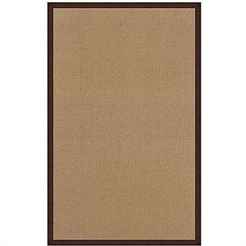 Linon Athena AT0306 Rug 8' x 11' Cork and Brown Rectangle -