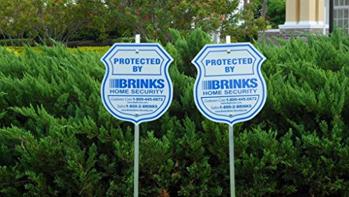(2 Authentic Reflective Home Security Signs and 8 Refective Stickers)