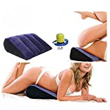 Inflatable Position Pillow Sex Pillow - Magic Triangle Cushion Sex Furniture for Couples 17.8''x14.2''x5.9'' Position Support Pillow (CR-240)