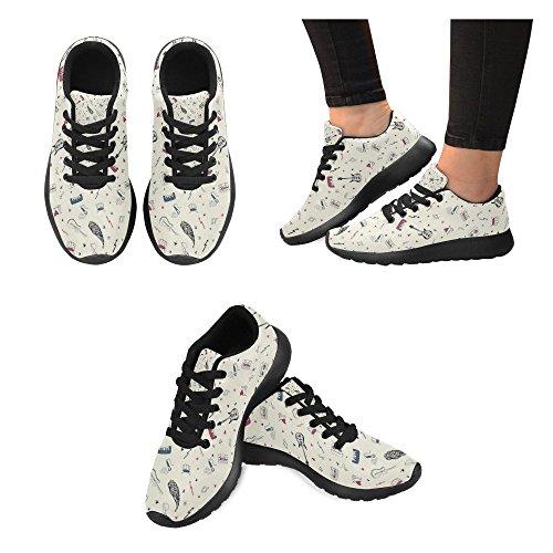 Interesse Per Le Donne Jogging Da Corsa Sneaker Leggero Go Easy Walking Comfort Sportivo Scarpe Da Ginnastica Note Musicali