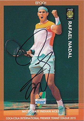 Rafael Nadal 2015 Epoch Iptl Tennis On Card Autograph  7 10 Shortprint 1 1 Mint  Incredible Rare Low Numbered Hand Signed Autograph Card Of Tennis Legend  International Premiere Tennis League