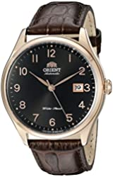 Orient Men's FER2J001B0 Duke Black Watch with Brown Leather Band