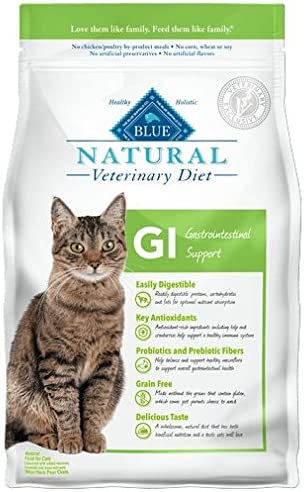 Blue Buffalo Veterinary Diet GI Dry Cat Food 7 Pound