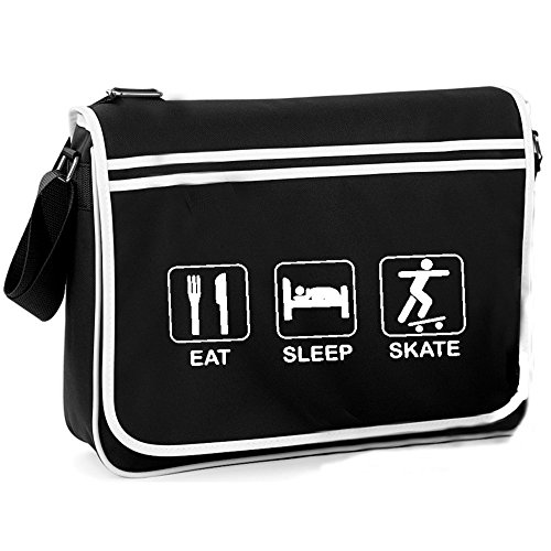 Retro Skate Sleep Eat Shoulder Bag qUwYvnx1z