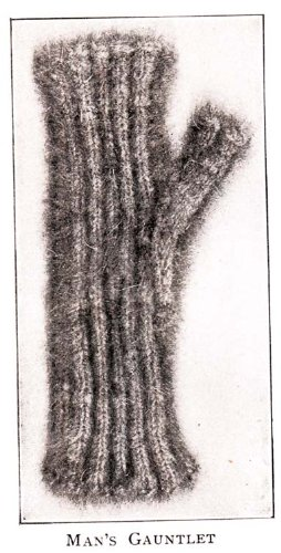 Titanic Era Knitted Man's Gauntlets Knitting Pattern Fingerless Gloves - Being ribbed these gauntlets fit any ordinary hand