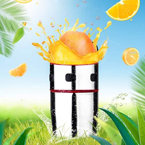 (Maikouhai Manual Juicer, Stainless Steel Mini Portable Hand Handmade Fruit Lemon Lime Orange Citrus Press Extractor Squeezer Juice Cup - 6 Blades, Silver)