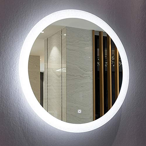 Mirrors and More LED Backlit Wall Mirror | Frameless Polished Edge Silver -