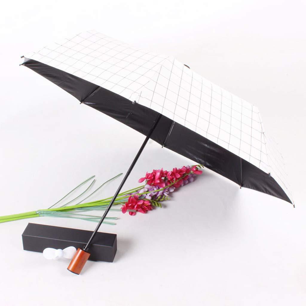 Amazon.com: Paraguas de carga con ventilador pequeño ...