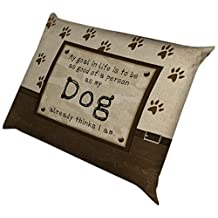 Laural Home Dogs Opinion Fleece Dog Bed, 18-Inch by 28-Inch