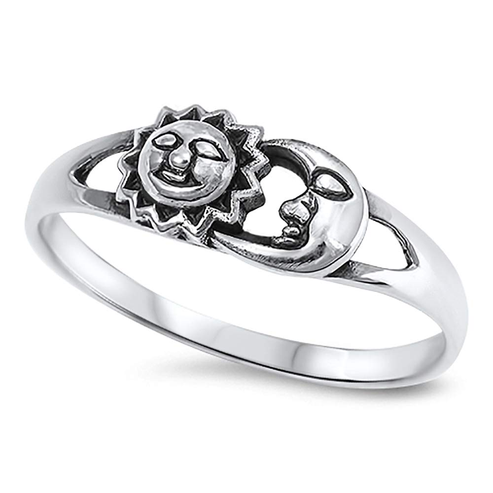CloseoutWarehouse Brother Sun /& Sister Moon Ring Sterling Silver 925