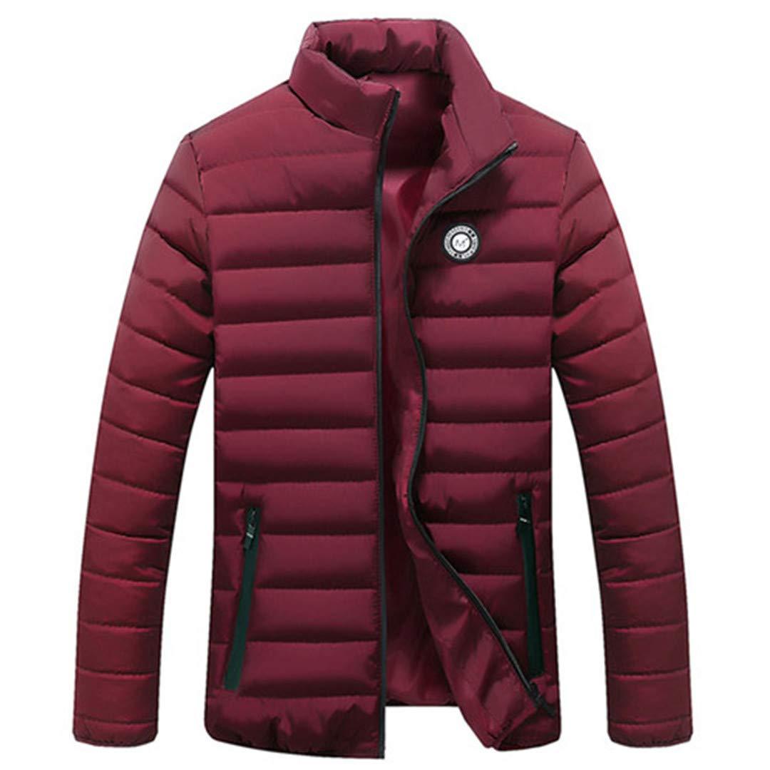 KUYTFV Jackets Parka Men Autumn Winter Warm Outwear Light Cotton-Padded Down Coats Casual Windbreak Male Jackets
