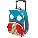 Skip Hop Zoo Little Kid & Toddler Rolling Luggage, Otis Owl