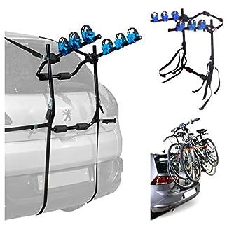 UKB4C 3 Bicycle Bike Car Cycle Carrier Rack Universal Fitting Saloon Hatchback Estate High Level 3