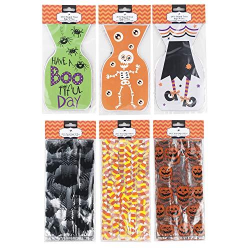 Halloween Goodie Treat Bags with Twist Ties -