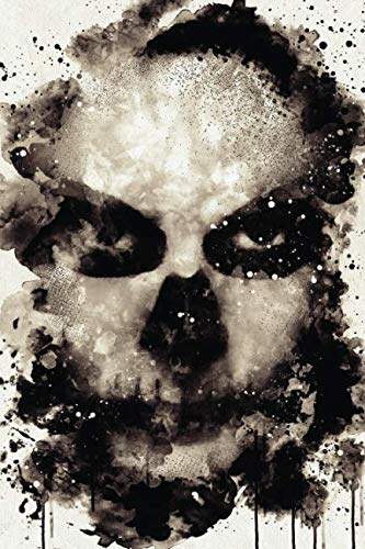 Watercolor Skull Face Paint: Blank Lined Notebook, Journal or Diary -