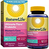 Renew Life Women's Probiotic - Ultimate Flora  Probiotic Women's Care, Shelf Stable Probiotic Supplement - 90 Billion - 60 Vegetable Capsules (Packaging May Vary)