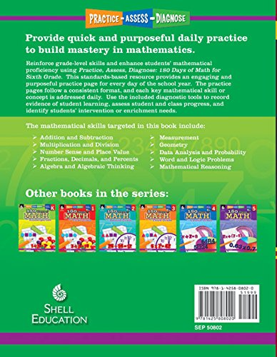 Counting Number worksheets grade 7 math probability worksheets : Amazon.com: 180 Days of Math for Sixth Grade (180 Days of Practice ...