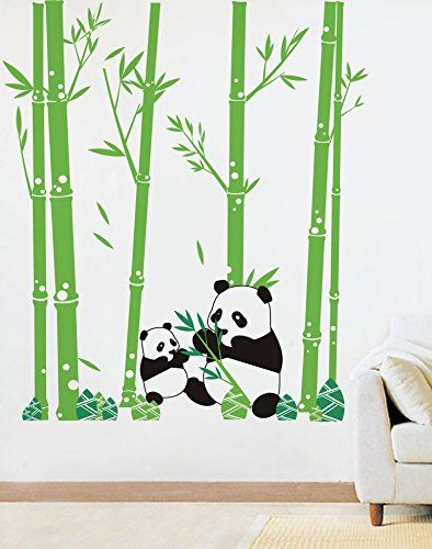 Amazon Com Popdecors Pandas Love Bamboo 79in H Custom Beautiful Tree Wall Decals For Kids Rooms Teen Girls Boys Wallpaper Murals Sticker Wall Stickers Nursery Decor Nursery Decals Pt 0074 Baby