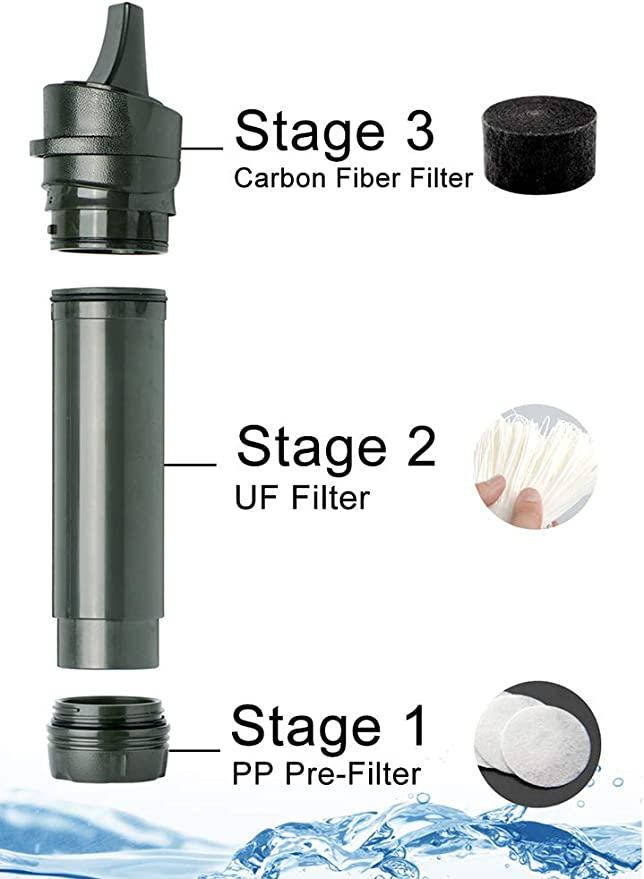 Suitable For Camping Emergency Mountaineer Outdoor Purifier Survival Equipment Mini Portable Multi-Purpose Water Filter Straw ZPF Personal Water Filter