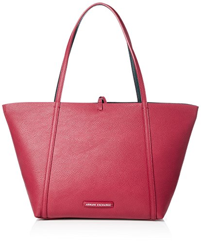 (A|X Armani Exchange Pebble PU Tote, red/Grasshopper)