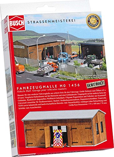 Busch 1456 Road Maintenance Depot HO Scale Building Kit