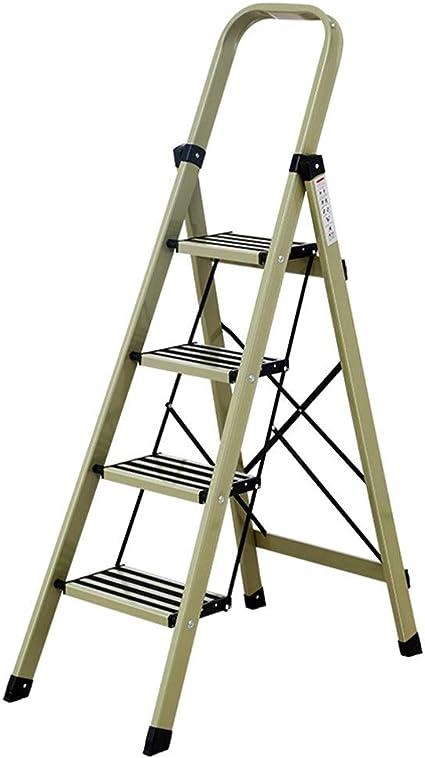 Escalera multifunción, de aleación de aluminio antioxidante, dos colores, cuatro escalones, escaleras plegables elevadas/para tiendas/hogar cocina estable: Amazon.es: Oficina y papelería
