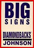 2004 Fleer Platinum Big Signs #8 Randy Johnson HOF ARIZONA DIAMONDBACKS