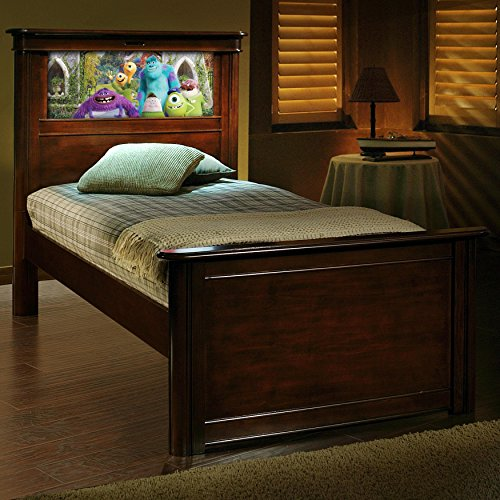 LightHeaded Beds Riviera Twin Panel Bed with Back-Lit LED Headboard (Kids Personalized Full Headboard)