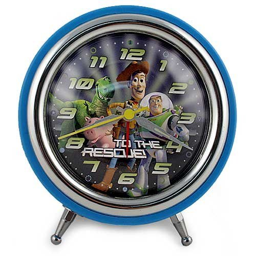 Toy Story 3 Retro Round Alarm Clock in Open Window - Alarm Toy Story Clock