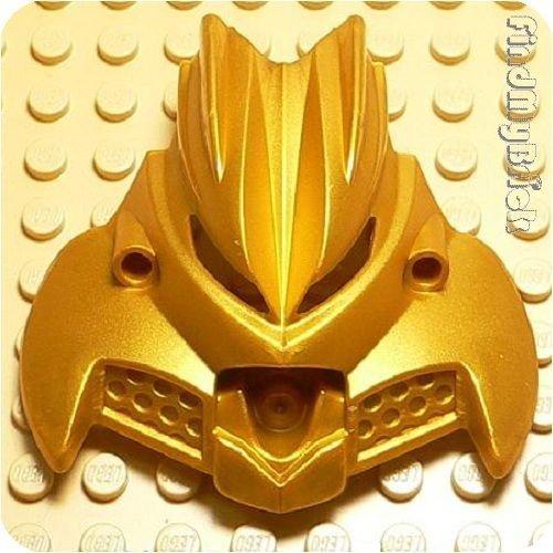 Lego Bionicle Mask Olmak Metallic Gold RARE Wide Around 58mm (Lego Bionicle Mask)