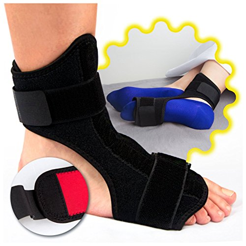 Plantar Fasciitis Splint (ATTICAN ® Plantar Fasciitis Dorsal Night & Day Splint - Adjustable Drop Foot Orthotic Brace Instep Injury Support for Heel Pain Relief, Fits Right and Left Foot, Men Women)