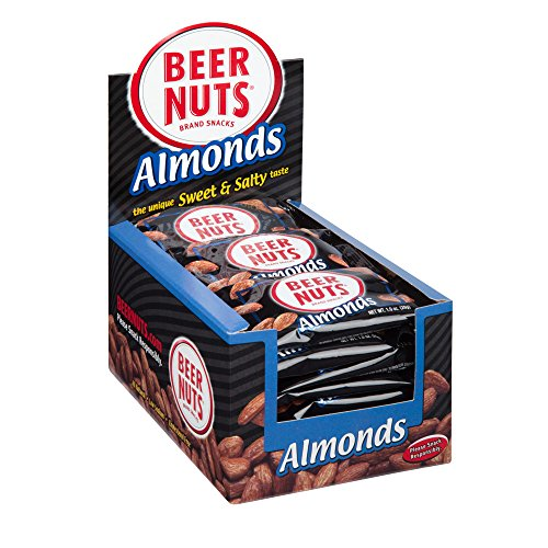 BEER NUTS Almonds | 24 Pack Box - 1 oz. Individual Bags - Sweet and Salty