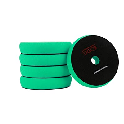 "SGCB Pro 6"" Car Polishing Pad Rotary Foam Pack of 5, Hook & Loop Flat Light Grip Pad Cutting Finishing Sponge Disc Buffing Pad for Car Beauty Gloss Restoring Used On RO/DA Polisher, Green: Automotive [5Bkhe0807506]"