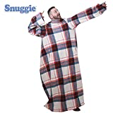 Snuggie- The Original Wearable Blanket That Has Sleeves, Warm, Cozy, Super Soft Fleece, Functional Blanket with Sleeves & Pockets for Adult, Women, Men, As Seen On TV- Plaid